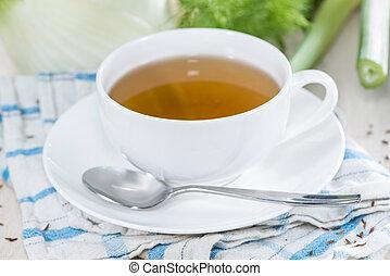 té, hinojo