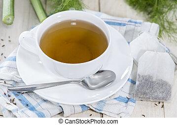 té, hinojo, taza