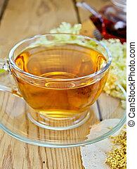 té, meadowsweet, tabla, tetera, taza