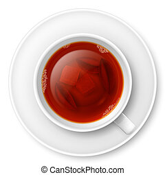 té, negro, taza