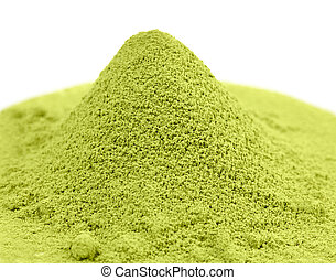 té, verde, japonés, matcha, polvo