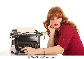 técnica, viejo, escritura