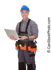 técnico, computador portatil, tenencia