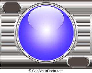 técnico, fundo, metal, com, bola copo