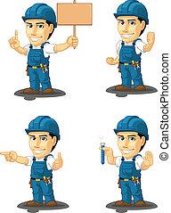 técnico, o, reparador, mascota, 9