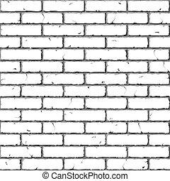 tégla, wall., seamless, texture.
