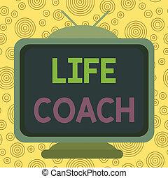 téglalap, kiállítás, élet, coach., szöveg, derékszögben, -e...