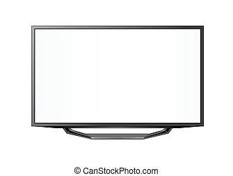 télé écran plasma, réaliste, plat, lcd