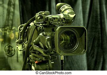 télécaméra, studio.