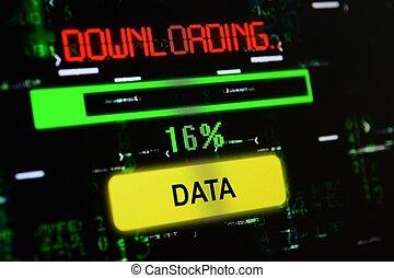 téléchargement, données