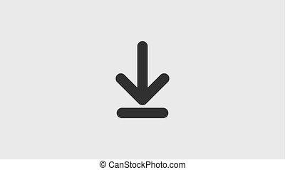 téléchargement, flèche, icônes