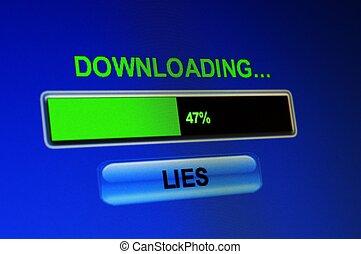 téléchargement, mensonges