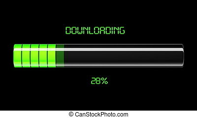 téléchargement, process., télécharger