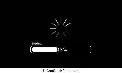 télécharger, réseau, 100., 1, dynamique, ou, cent, données, jeûne, progrès, bar., connection., indicateur, chargement