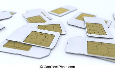 télécommunication, mobile, sim, card.