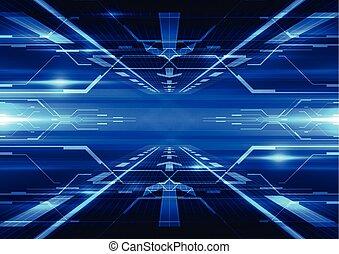 télécommunications, résumé, illustration, vecteur, fond, avenir, technologie