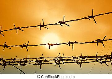 télégraphier clôture