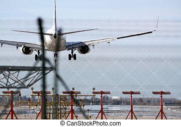 téléobjectif, avion