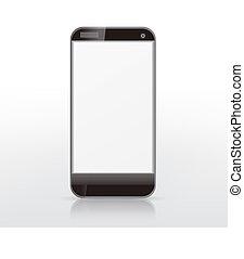 téléphone, écran, intelligent, vide