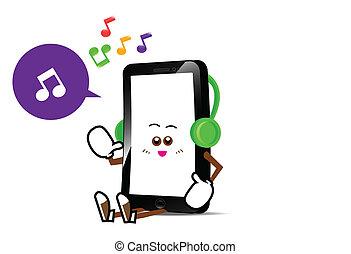 téléphone, 012, dessin animé, intelligent