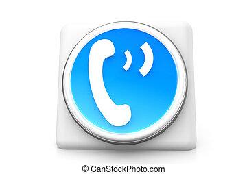 téléphone, 3d, icône