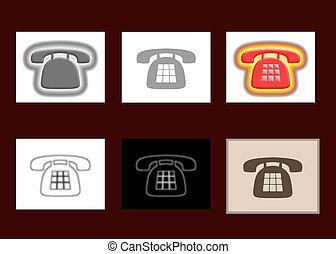 téléphone, 6, icônes
