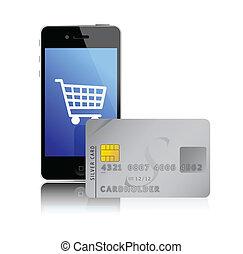 téléphone, achats, intelligent, internet