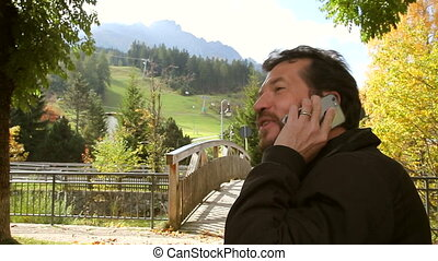 téléphone, amour, homme