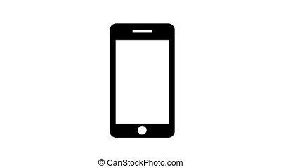 téléphone, anneaux, 60, arrière-plan., fps., blanc, hd