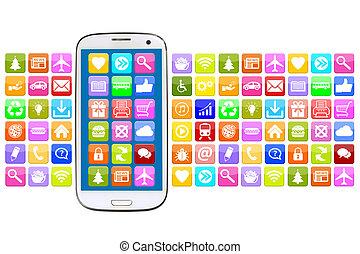 téléphone, app, apps, application, internet, intelligent