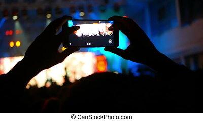 téléphone, appareil photo, concert musique