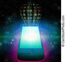 téléphone, apps, intelligent