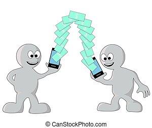 téléphone, argent