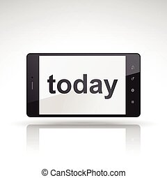 téléphone, aujourd'hui, mot, mobile