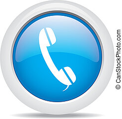 téléphone, blanc, isolé, fond