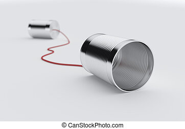 téléphone, boîte, câble, rouges