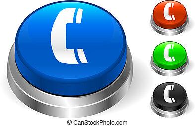 téléphone, bouton, icône, internet