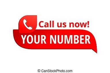 téléphone, -, bouton, nombre, nous, gabarit, appeler