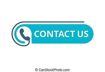 téléphone, -, bouton, nombre, nous, gabarit, contact