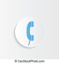 téléphone, bouton
