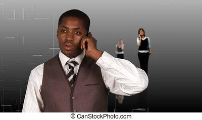téléphone, businesspeople