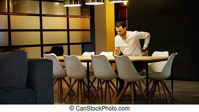téléphone, café, mobile, avoir, quoique, utilisation, cadre ...