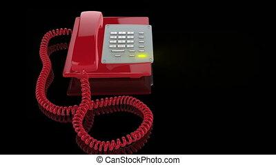 téléphone cas urgent, feu rouge, sonner