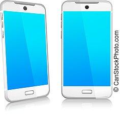 téléphone, cellule, intelligent, mobile