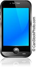 téléphone, cellule, mobile, intelligent