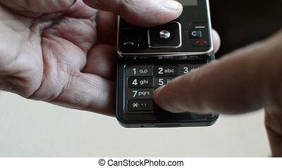 téléphone, cellule, typing/texting, nostalgique, vieux, ...