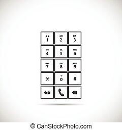 téléphone, clavier