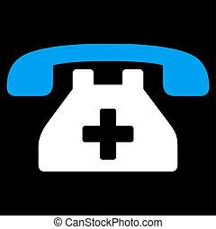 téléphone, clinique, icône