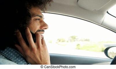 téléphone, conduite homme, conversation