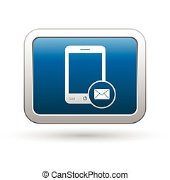 téléphone, courrier, menu, icône